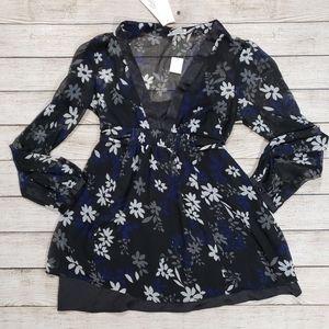 Motherhood Maternity Medium floral blouse